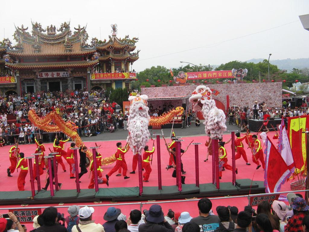 台北市立大學宋江陣初賽-舞龍舞獅跳樁