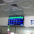 旗山轉運站的 PIDS 顯示本次活動的接駁車資訊