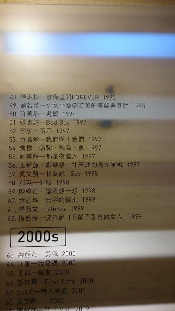 1990~2000年代的經典女聲專輯