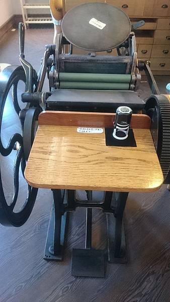 駁二禮拜文房具裡的活版印刷機