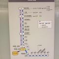 當時還沒通車的機場捷運路線圖