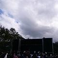雲很多,後來就下雨了
