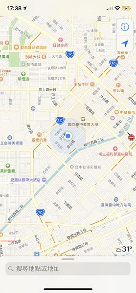 台中市審計新村附近的定位