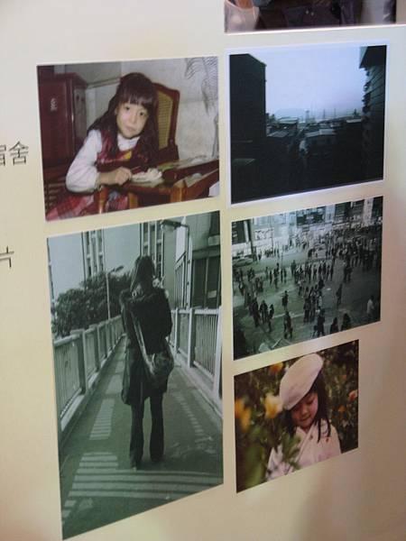 彩色:陳綺貞小時候的照片/黑白:不明(那隻貓是 pussy 的主角嗎?)
