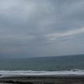 由於颱風剛走,天氣是陰的