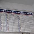 台東舊站的票價表