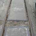 集集車站外的蒸氣旅遊列車用鐵軌