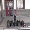 竹東站內五組號誌閘柄