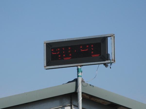 氣溫顯示40度…