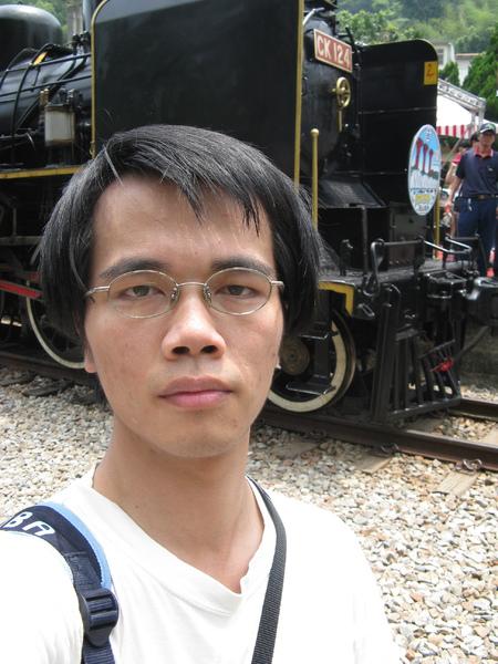 勝興車站內自拍 2