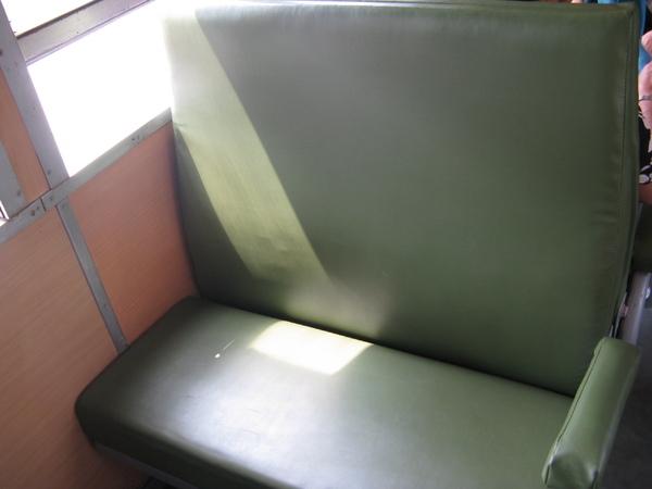 好懷念的綠座椅啊…