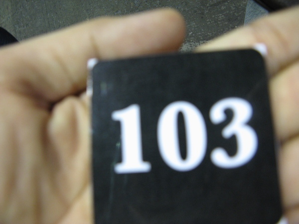 103號碼牌