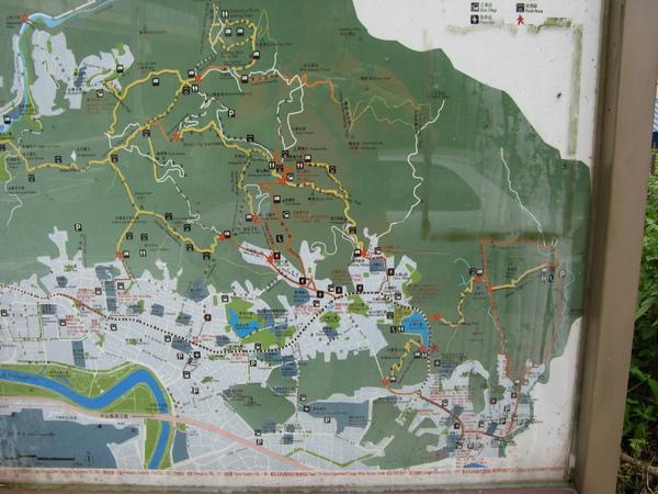 入山口的地圖,看起來不會很遠