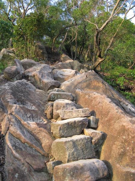 陡很多的石階