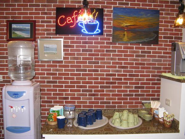 一樓自助咖啡廳內