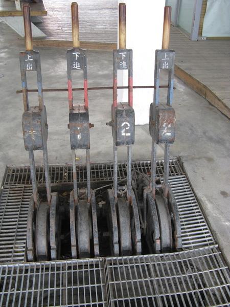 台東舊站扳轉轉轍器用的工具