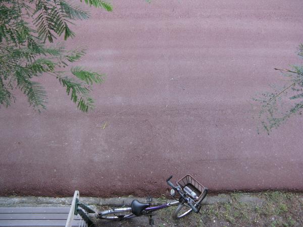 俯拍腳踏車