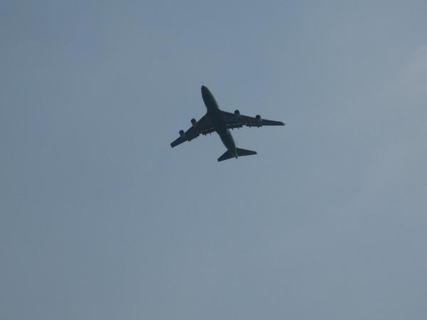飛機從上方飛過