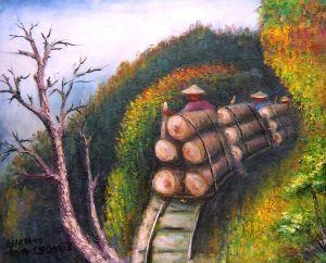 輕便車運木材