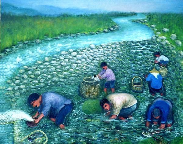 河霸圖水抓魚