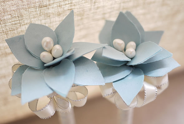 藍色布花 Amber