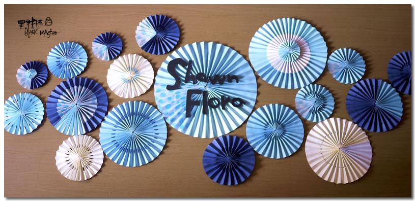 圓形紙扇 Flora 01