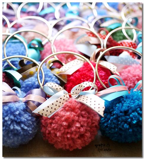 婚禮小物-毛線球鑰匙圈 吟姿