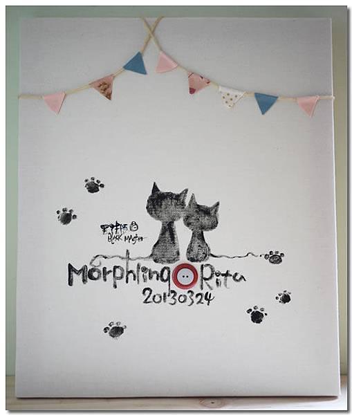 貓咪指紋簽名板 子容