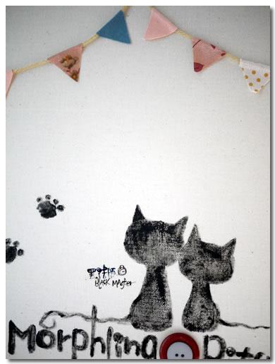 貓咪指紋簽名板 子容02