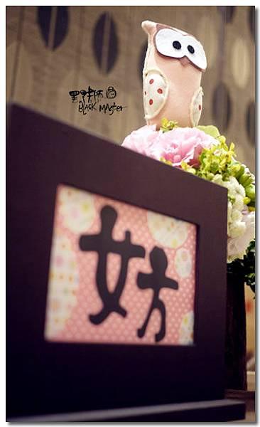 貓頭鷹主題婚佈 收禮桌02