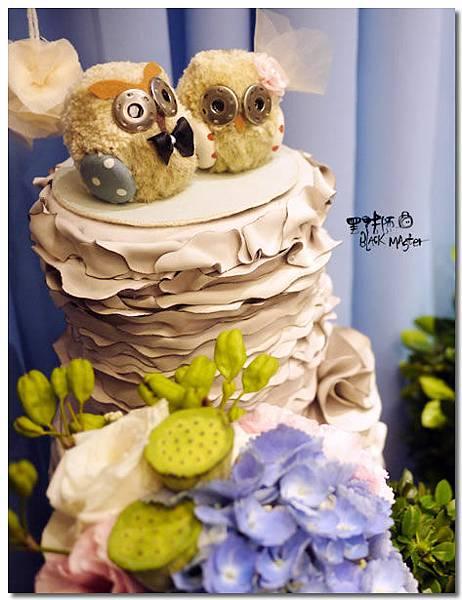貓頭鷹主題婚佈 相簿桌02