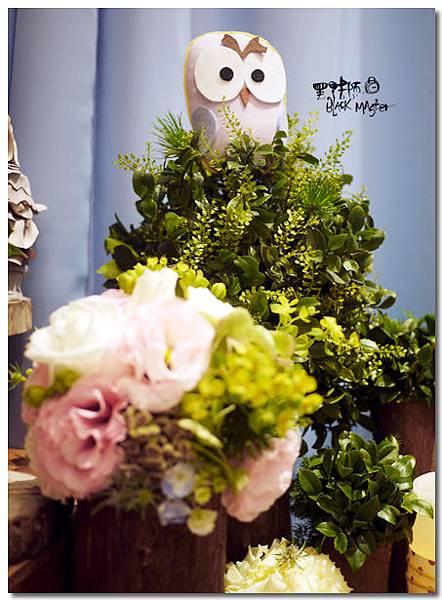 貓頭鷹主題婚佈 相簿桌05