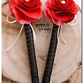 紅色紙花婚禮簽名筆 Pehan.jpg