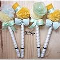 黃綠白色系-毛線球婚禮簽名筆 Mavis.jpg