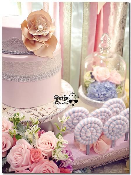甜點風x紙花 婚禮佈置  相簿桌 07.jpg