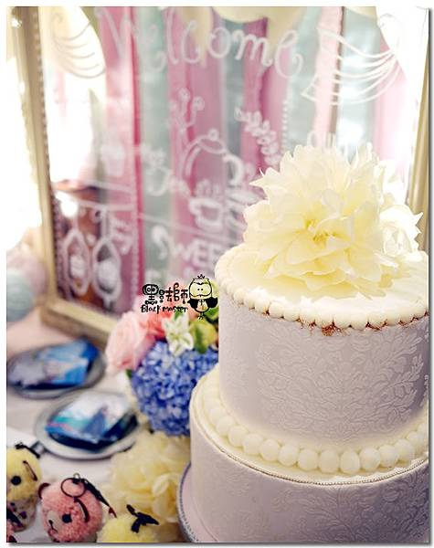 甜點風x紙花 婚禮佈置  相簿桌 08.jpg