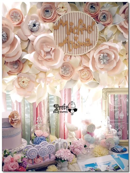 甜點風x紙花 婚禮佈置  紙花牆01.jpg