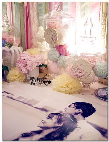 甜點風x紙花 婚禮佈置 相簿桌 01.jpg