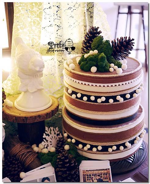 清新黃綠x紙花森林風 婚禮佈置 相簿桌10.jpg