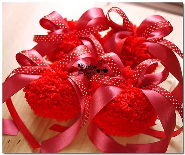 紅粉色系-毛線車把裝飾 甜潔兒.jpg