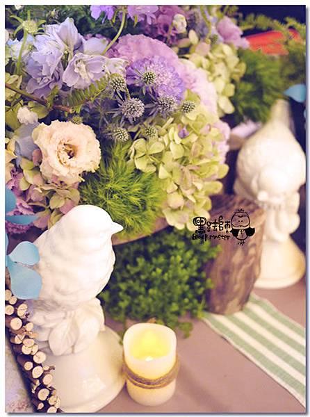 紙花x紫色森林風 婚禮布置 收禮桌02.jpg