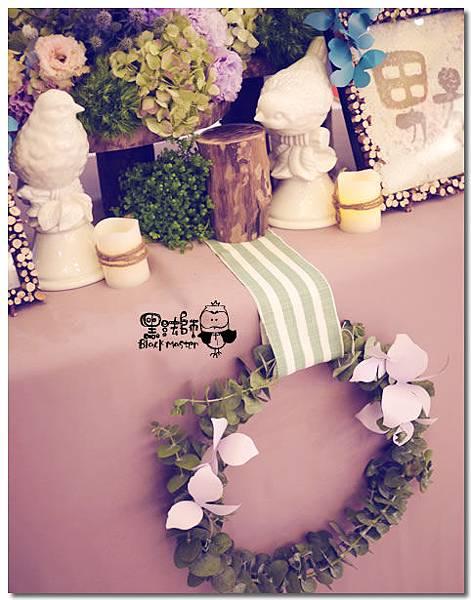 紙花x紫色森林風 婚禮布置 收禮桌01.jpg