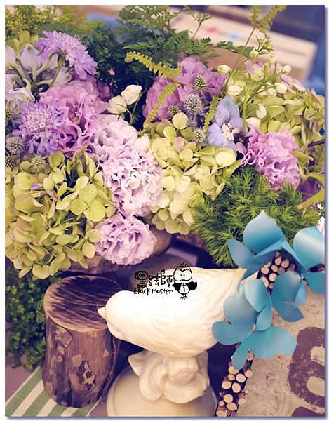 紙花x紫色森林風 婚禮布置 收禮桌03.jpg