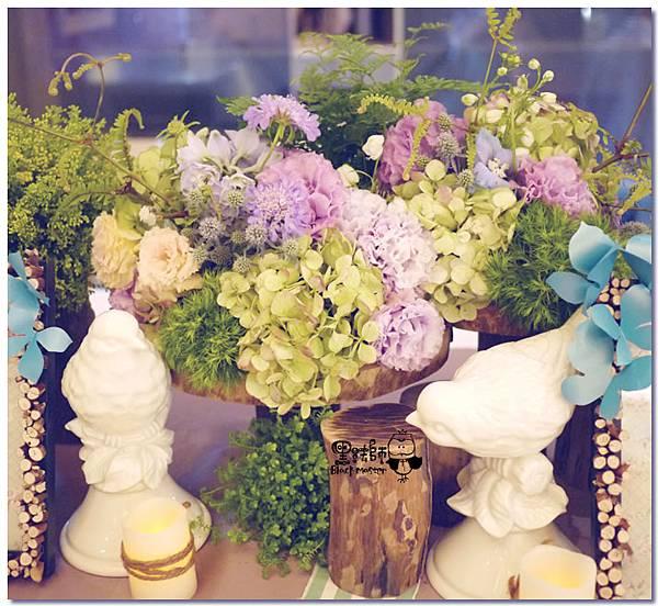 紙花x紫色森林風 婚禮布置 收禮桌05.jpg