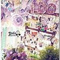 紙花x紫色森林風 婚禮布置 相簿桌05.jpg