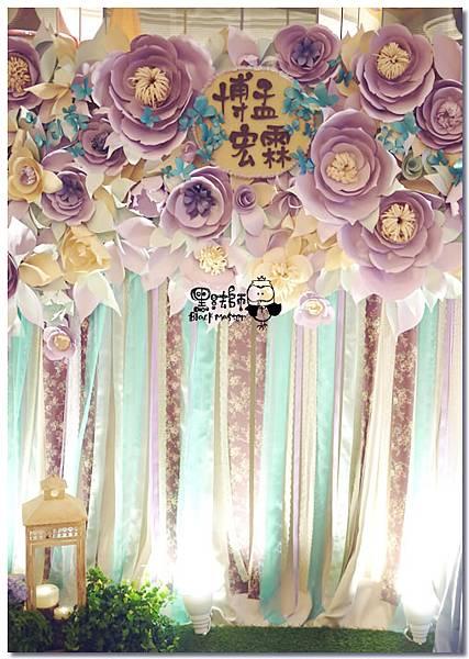 紙花x紫色森林風 婚禮布置 紙花牆01.jpg