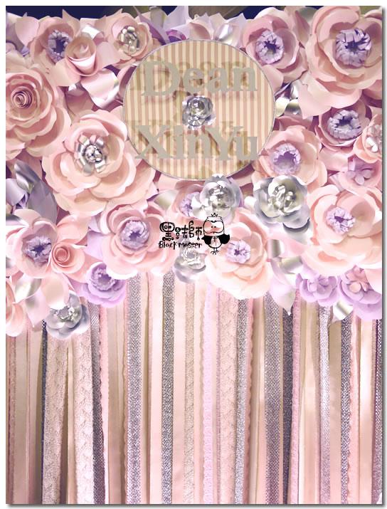時尚甜點風x紙花 婚禮佈置 紙花牆02.jpg