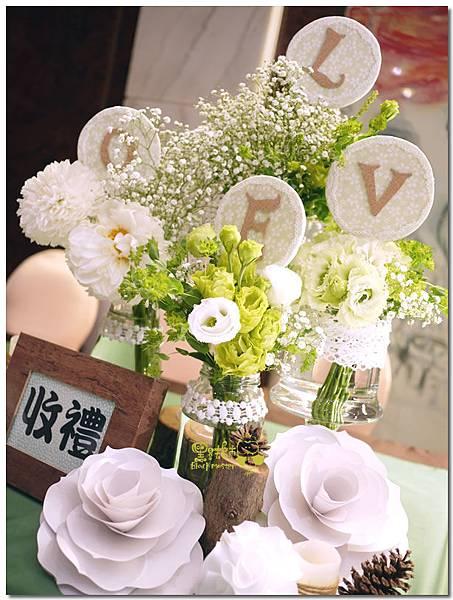 白綠色調X清新自然風婚禮 收禮桌02.jpg