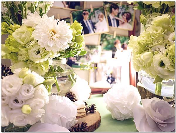白綠色調X清新自然風婚禮 相簿桌05.jpg