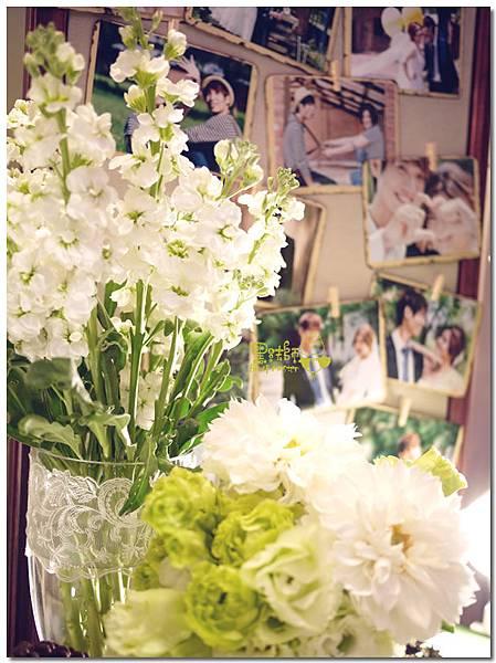 白綠色調X清新自然風婚禮 相簿桌07.jpg